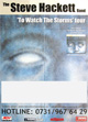 Steve Hackett - To Watch The Storms - tour report 2003