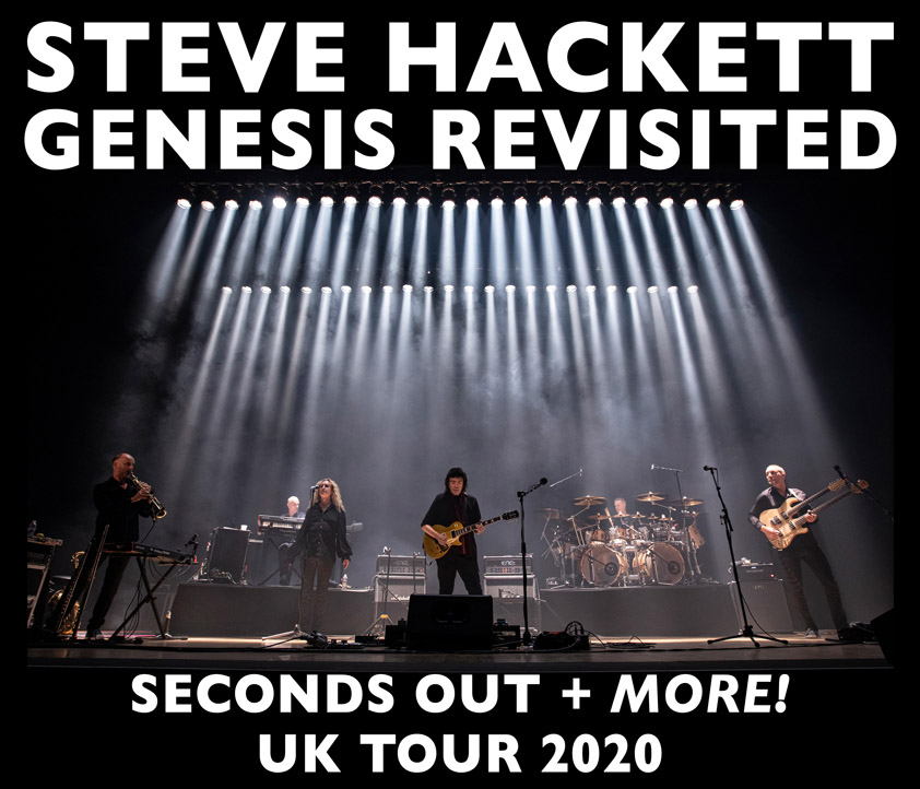 Steve Hackett live: Seconds Out and More 2020 and 2021
